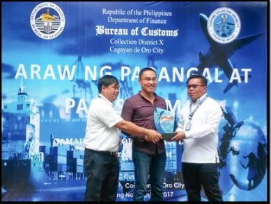SteelAsia among BOC's top 10 importers for 2016 In Northern Mindanao