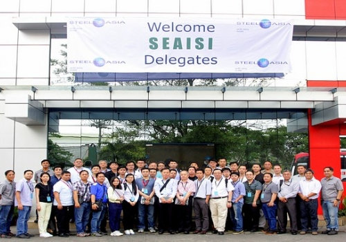 SteelAsia plant tour at the SEAISI 2015 Conference