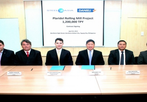 SteelAsia signs with Danieli for a 1.2 million ton per year rebar rolling mill